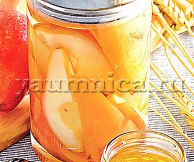 рецепт компота из груш