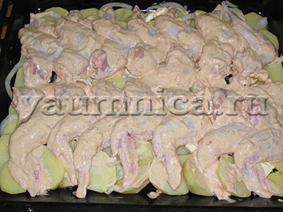 Запеченные крылышки в духовке
