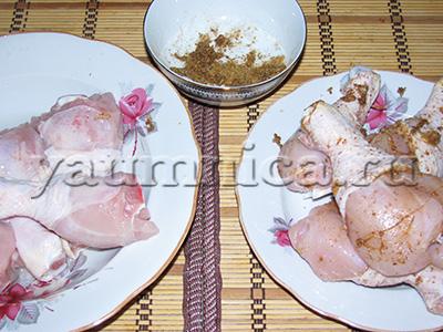 куриные голени с сыром