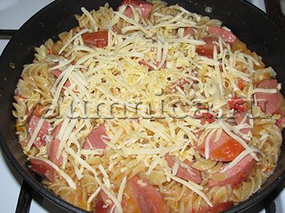 приготовление макарон с сыром