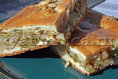 рецепт пирога с капустой