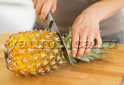 Разделываем правильно ананас