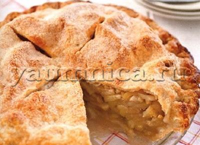 рецепт закрытого яблочного пирога