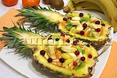 простые рецепты с ананасами