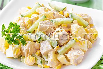 салат с ананасами рецепт