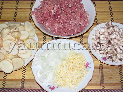 вкусная мясная запеканка