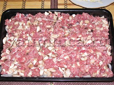 рецепт запеканки с мясом