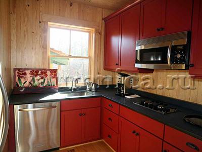, интерьер маленькой кухни