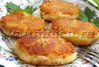 котлеты из картофельного пюре рецепт