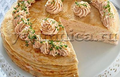 блинный пирог с начинкой