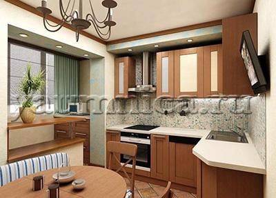 квартира с маленькой кухней