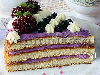 ежевичный торт рецепт