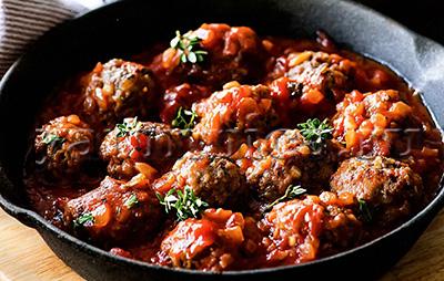 Мясные тефтели в томатном соусе рецепт