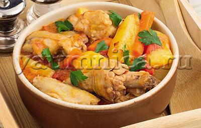 рагу с курицей рецепт