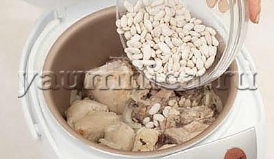 курица с фасолью в мультиварке