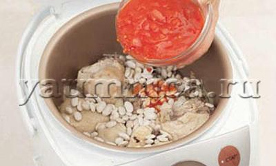 курица с помидорами в мультиварке рецепт