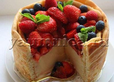 бисквитный торт с ягодами рецепт
