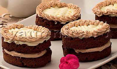 рецепт бисквитные пирожные