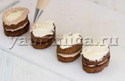 пирожные с кремом рецепт