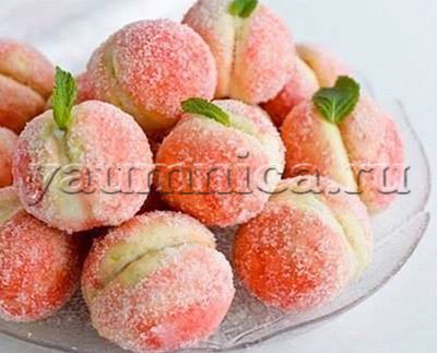 персики с кремом рецепт