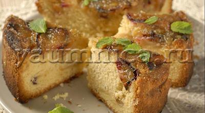 пирог с яблоками и сливами рецепт
