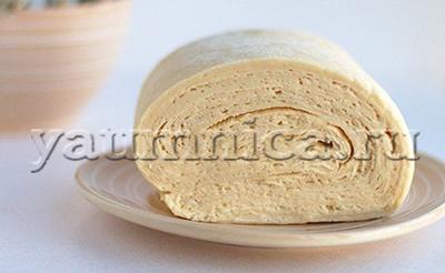 Домашнее постное слоёное тесто бездрожжевое  рецепт