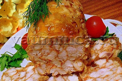 Рулет из куриного филе рецепт