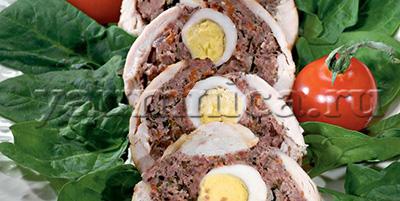 мясной рулет с яйцами рецепт