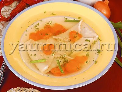 куриный суп с конвертиками рецепт