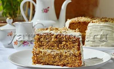 морковно ореховый торт рецепт