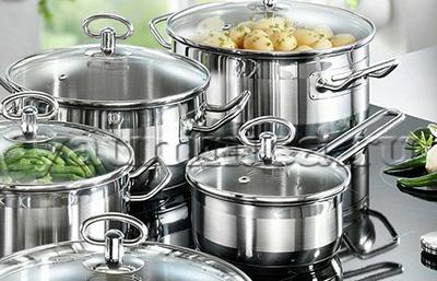 Посуда из нержавеющей стали для дома