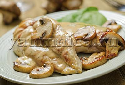 куриная грудка в грибном соусе рецепт