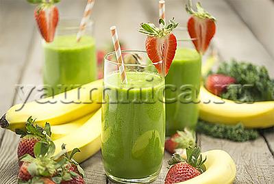 зеленый коктейль рецепт