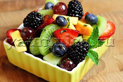 фруктовый завтрак рецепт