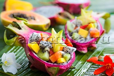 Завтрак с экзотическими фруктами рецепт