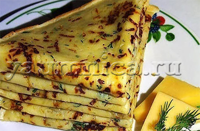 сырные блины рецепт