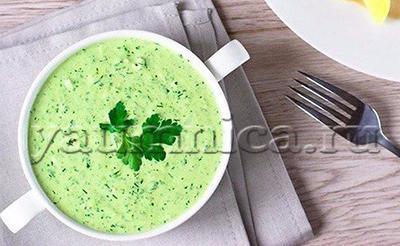 зеленый соус рецепт