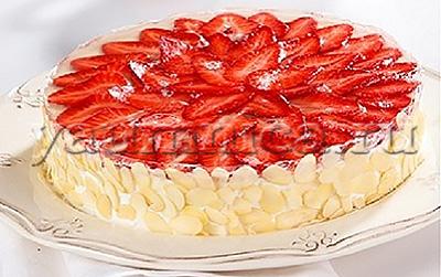 Творожный торт с клубникой рецепт