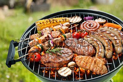 готовим мясо на огне