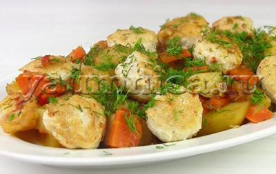 Овощное рагу с фрикадельками рецепт