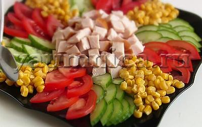 салат с кукурузой рецепт