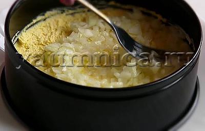 Слоеный салат с ветчиной рецепт