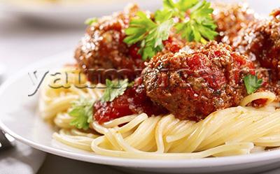 Спагетти с фрикадельками рецепт