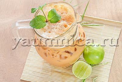 Холодный чай с ароматом ванили рецепт
