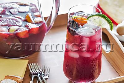 Холодный чай с вином в виде льда рецепт