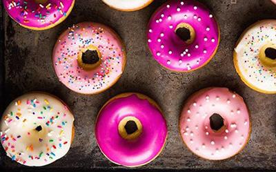 Пончики с разноцветной глазурью рецепт