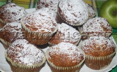 Яблочно-мандариновые кексы рецепт
