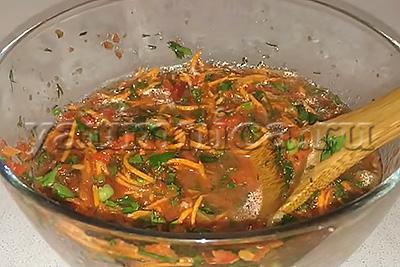 помидоры по корейски рецепт
