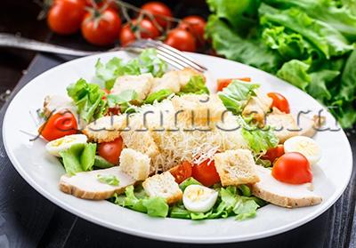 салат цезарь домашний рецепт