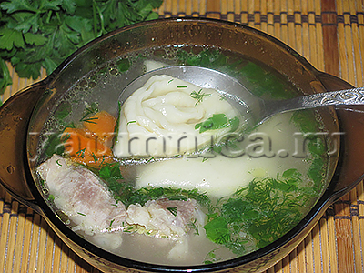 вкусный суп на мясной бульоне рецепт